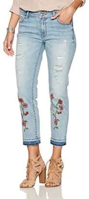 Denim Crush Whimsical Beaded Floral Skimmer Jean 6