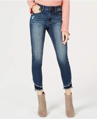 American Rag Juniors' Two-Tone Step-Hem Skinny Jeans