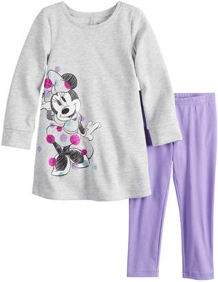 Osh Kosh Jumping Beans Disney's Minnie Mouse Girls 4-12 French Terry Swing Dress & Leggings Set