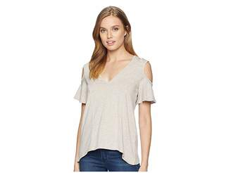 BCBGeneration Cut Out Cold Shoulder Top Women's Clothing