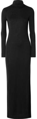 Ninety Percent - Stretch-tencel Turtleneck Maxi Dress - Black