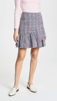 Rebecca Taylor Tweedy Plaid Skirt