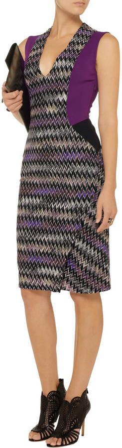 Missoni Ponte-paneled crochet-knit dress