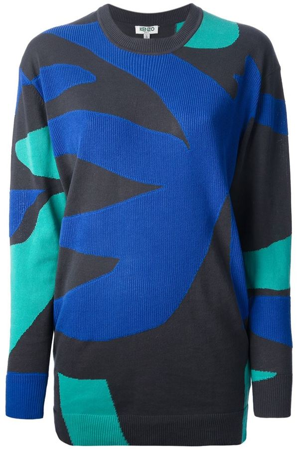 Kenzo abstract print sweatshirt
