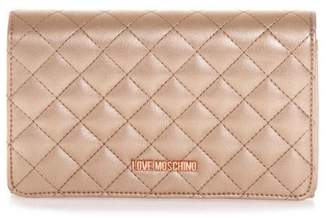 Love Moschino Copper Color Quilted Faux Leather Bag