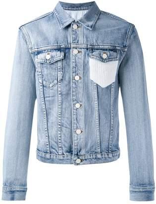3.1 Phillip Lim Crochet-pocket denim jacket