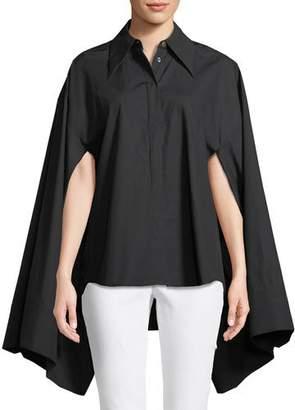Awake Button-Front Kimono-Sleeve Cotton Shirt