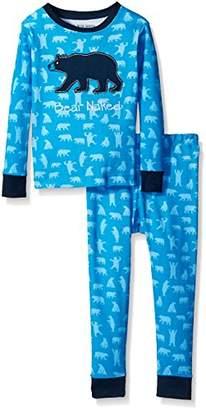 Hatley Little Blue House Boy's Long Sleeve Printed Pyjama Set (Blue Bears)