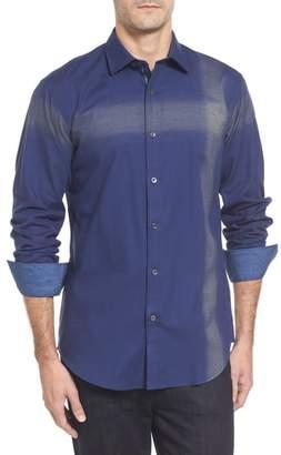 Bugatchi Classic Fit Ombre Stripe Sport Shirt