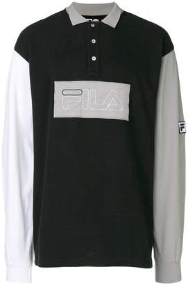 Fila Liam Hodges X logo patch polo shirt