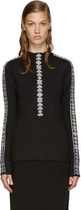 Peter Pilotto Black Band Mock Neck Sweater