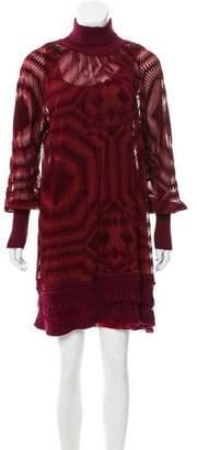 Jean Paul Gaultier Patterned Silk Mini Dress