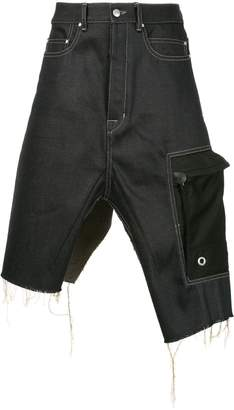 Rick Owens Cargo denim skirt