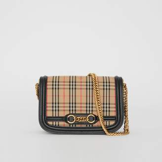 Burberry The 1983 Check Link Bag with Leather Trim