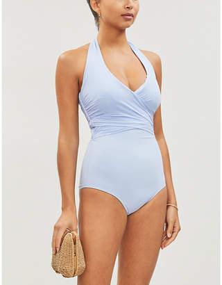 Heidi Klein Body Light wrap-effect halterneck swimsuit