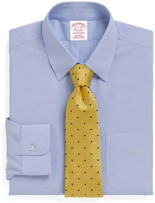 Brooks Brothers Traditional Relaxed-Fit Dress Shirt, Non-Iron Tab Collar