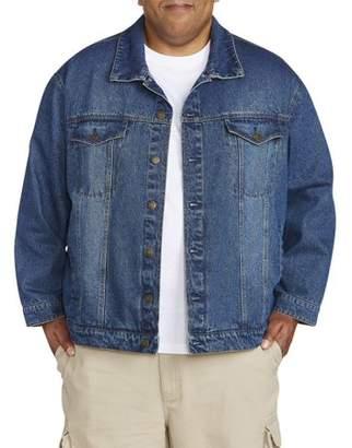 Canyon Ridge Big & Tall Men's Denim Jacket With Flannel Trim Detail
