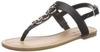 Call it SPRING EU Women's ASAUCLYA T-Bar Sandals, (Jet Black 96)