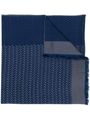 Giorgio Armani frayed zigzag scarf