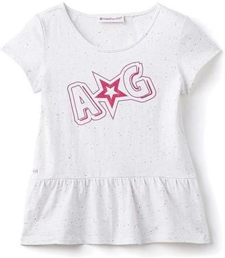 Truly Me American Girl Peplum T-Shirt Star Small