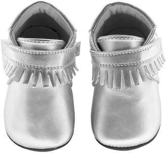 Jack & Lily Phyllis Low Top Sneaker - Silver, Size 30-36m