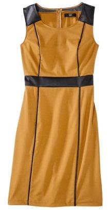 Mossimo Women's Sleeveless Dress w/ Faux Leather Trim
