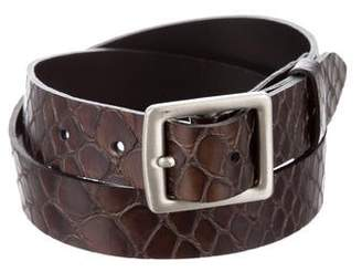 Donna Karan Embossed Leather Belt