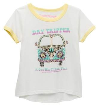 Rowdy Sprout Day Tripper Ringer Tee (Toddler, Little Girls, & Big Girls)