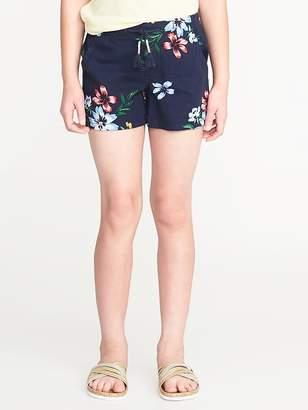 Old Navy Floral Linen-Blend Pull-On Shorts for Girls