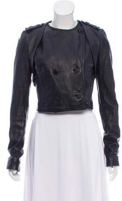 Alexander Wang Collarless Leather Jacket