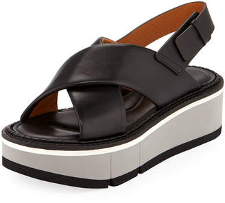 Robert Clergerie Anae Platform Leather Sandals