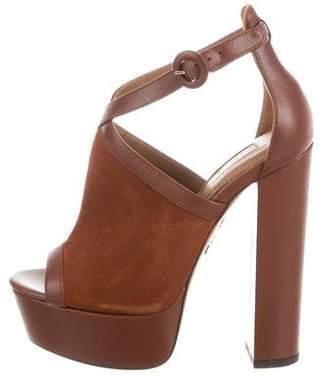 Aquazzura Suede Platform Sandals