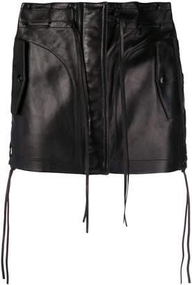 Saint Laurent fringe detail skirt