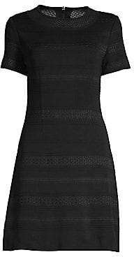 Misook Women's Knit Short Sleeve Fit-&-Flare Dress