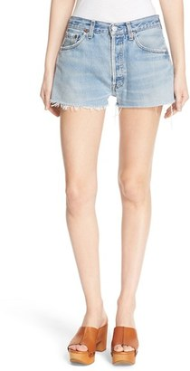 Women's Re/done 'The Short' Reconstructed Denim Shorts $175 thestylecure.com