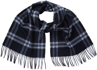 Stewart Of Scotland Cashmere Ombre Window Pane Scarf