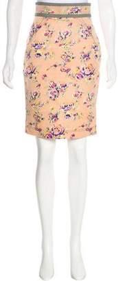 Zac Posen Z Spoke by Printed Knee-Length Skirt