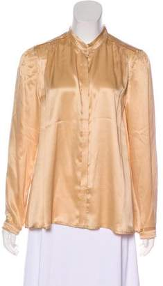 Band Of Outsiders Silk Button-Up Top