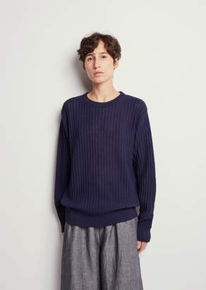 Blue Blue Japan Stripe Ridge Pattern Sweater