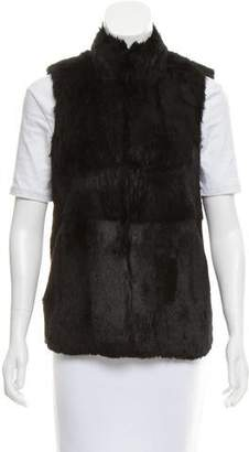MICHAEL Michael Kors Mock Neck Fur Vest