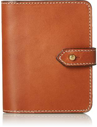 Circa Leathergoods Handcrafted Italian Leather Wallet with Post Tab Closure Cognac