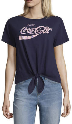 Fifth Sun Coca Cola Tie Front Tee - Juniors