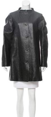 Ter Et Bantine Leather Short Knee-Length Coat