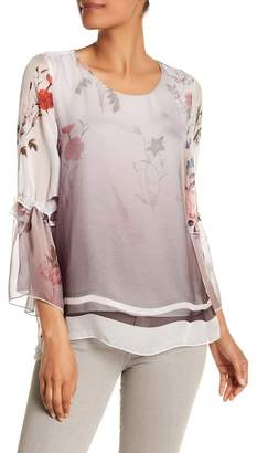 Luma Sheer Floral Bell Sleeve Blouse