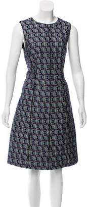 Oscar de la Renta Wool-Blend Knee-Length Dress