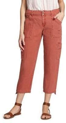 Sanctuary Terrain Cropped Linen Cargo Pants