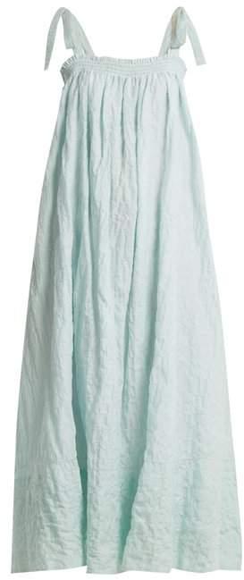 LOUP CHARMANT Bastille square-neck striped cotton dress