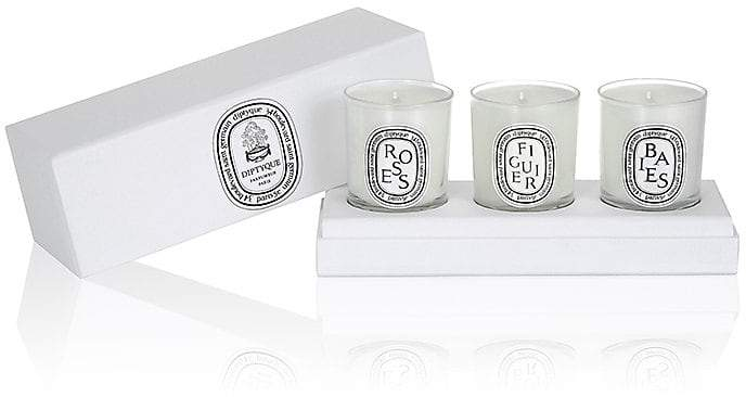 Diptyque Set Of 3 Mini-Candles