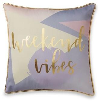 Mainstays Weekend Vibes Metallic Decorative Pillow