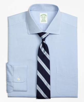 Brooks Brothers Milano Slim-Fit Dress Shirt, Non-Iron Spread Collar